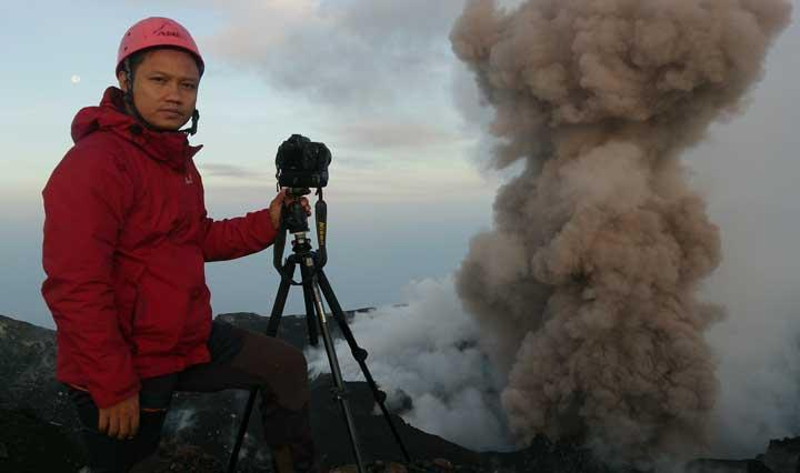 Andi on Slamet volcano in March 2014