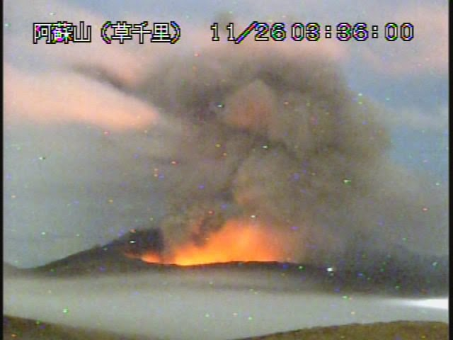Incandescence at Nakadake crater (JMO)