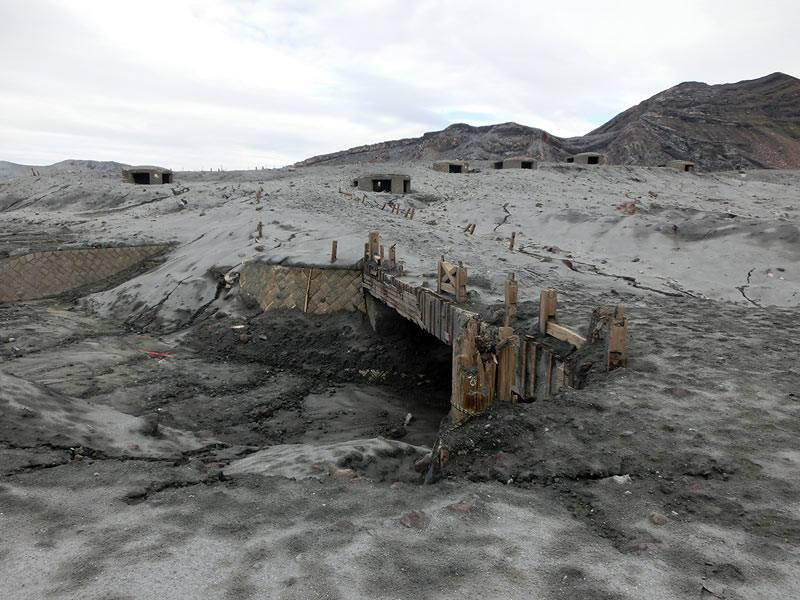 Area near Aso's Nakadake crater devastated by the explosion on 8 Oct 2016 (image: JMA)