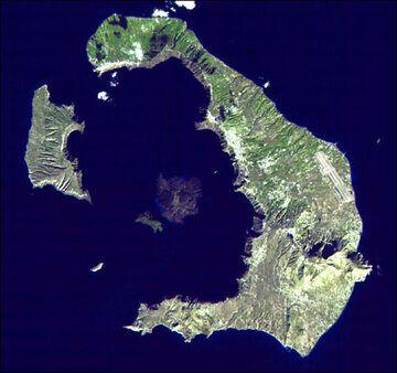 Satellite image of Santorini (Image: NASA / ASTER Science Team)