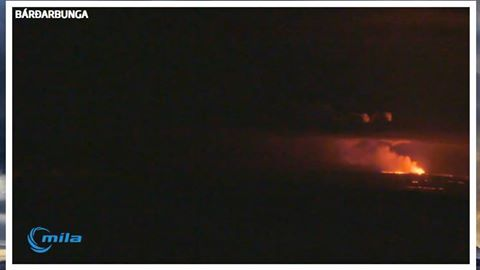 View of the eruption at Holuhraun this morning (MILA webcam)