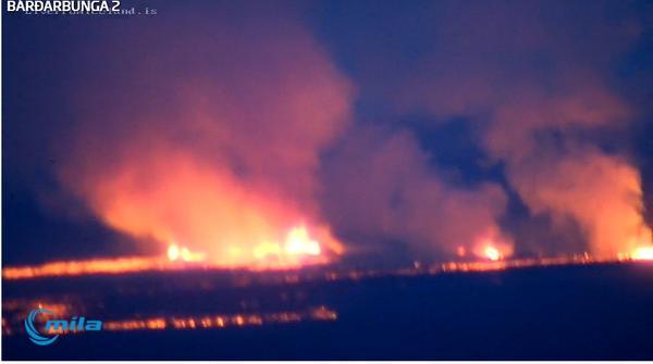 Webcam image of the eruption this morning (Mila webcam)