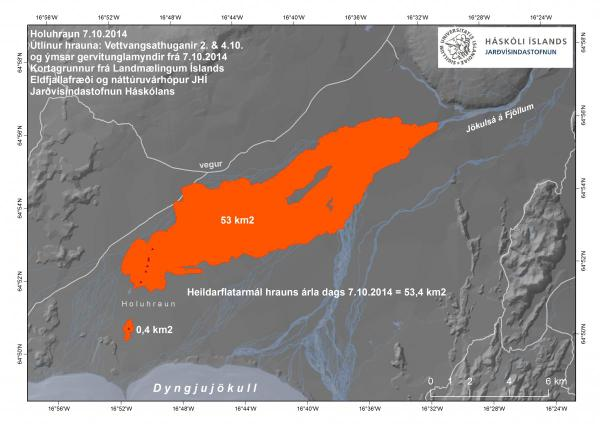 Updated map of the lava flows as of 9 Oct (Univ. Iceland / IMO)