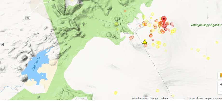 Yesterday's magnitude 3.8 quake at Bardarbunga volcano