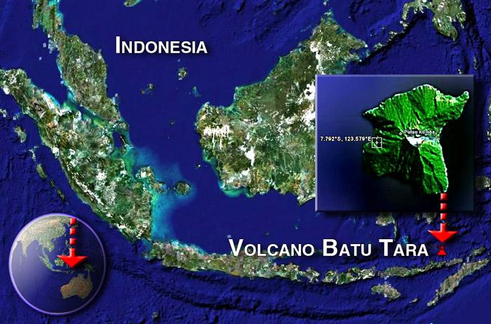 Batu Tara volcano sat by (c) Google Earth View