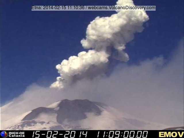 Explosion at Bocca Nuova crater (Montagnola webcam, INGV Catania)