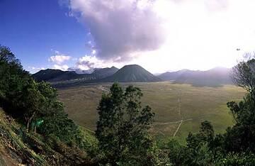 Bromo volcano in the center of the vast Tengger caldera