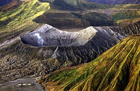 The crater of Bromo volcano, East-Java, Indonesia