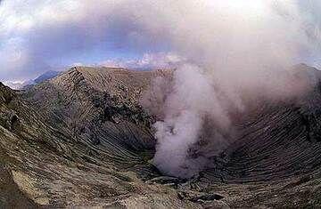Smoking crater of Bromo
