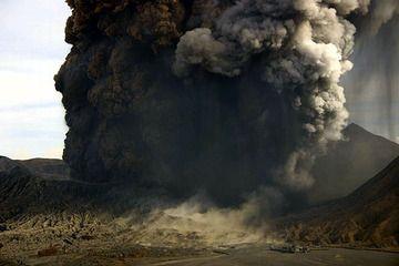 Eruption of Bromo on 8 June 2004
