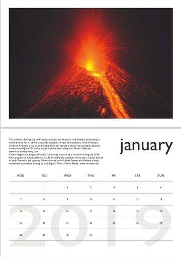 Volcano calendar 2019 - January preview