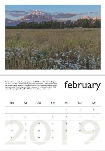 Volcano calendar 2019 - February preview