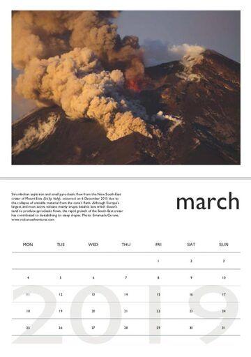Volcano calendar 2019 - March preview