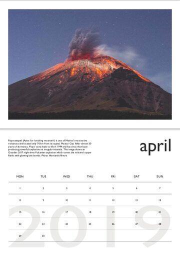 Volcano calendar 2019 - April preview