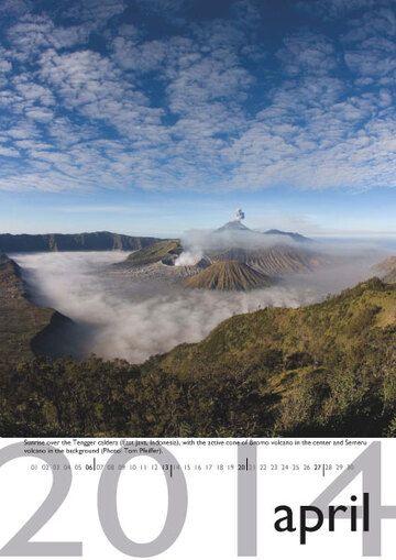 Volcano calendar 2014 - April preview