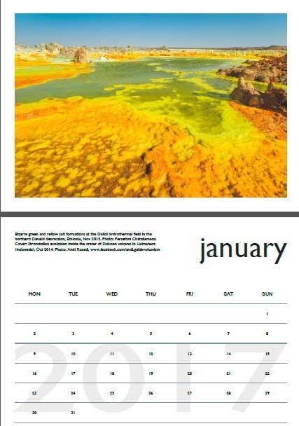 Volcano calendar 2017 - January preview