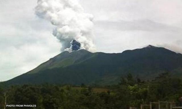 Eruption of Kanlaon volcano yesterday (PHILVOLCS)