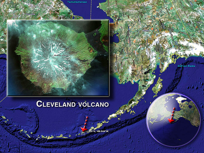 Cleveland volcano satellite image by (c) Google Earth View
