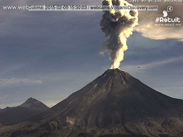 Explosion at Colima today