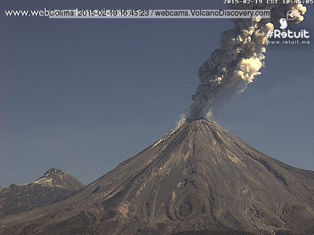 Explosion from Colima this morning