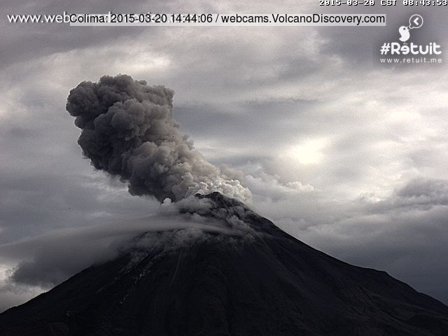 Explosion at Colima this morning