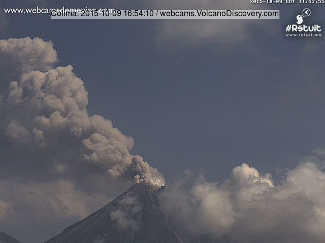 Explosion at Colima volcano yesterday