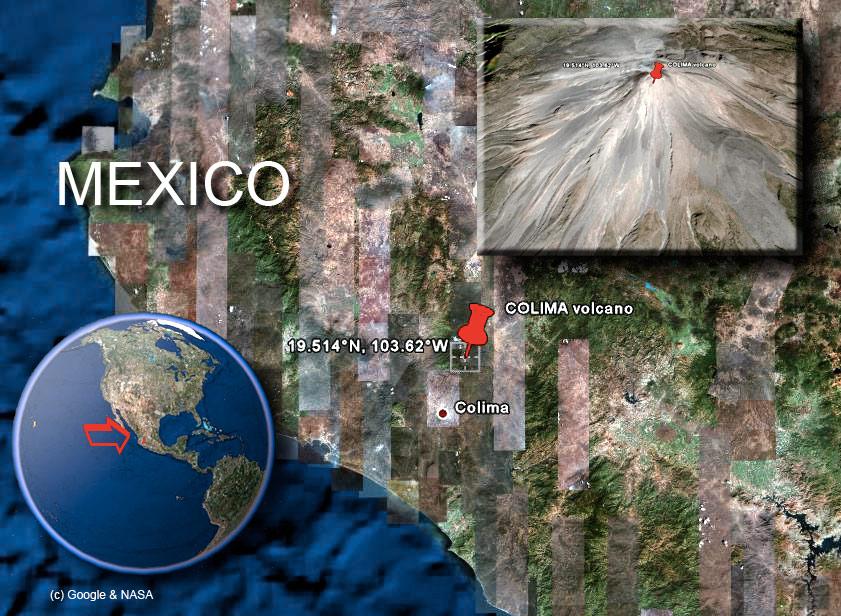 Colima Satelite Image by (c) Google & NASA