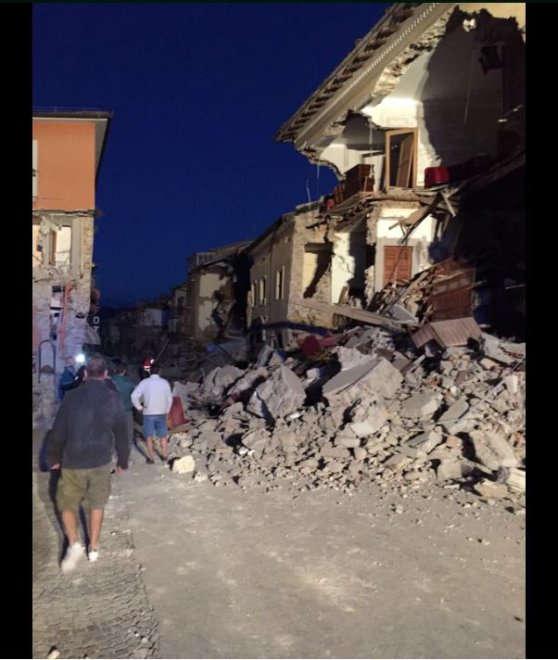 Damage in Amatrice (image: author unknown / La Repubblica)