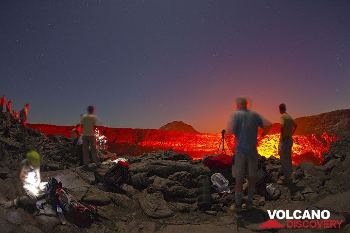 Observing the nighttime glow of Erta Ale's active lava lake