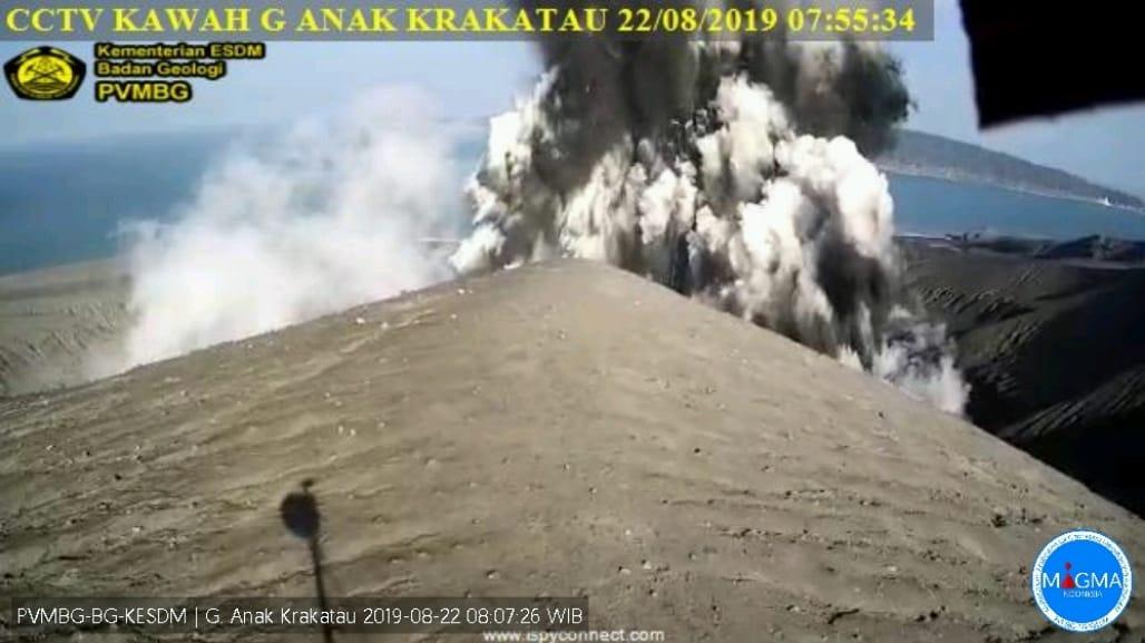 Eruption of Krakatau this morning (image: PVMBG)