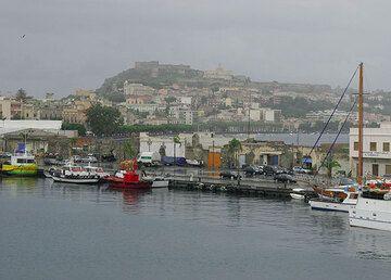 Heavy rain when we took the ferry in Milazzo!