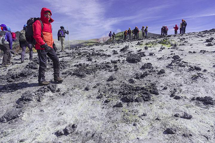 Bocca Nuova crater rim