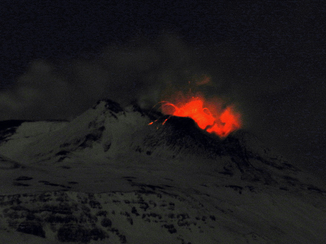 Strombolian activity from the New SE crater on 7 February 2012