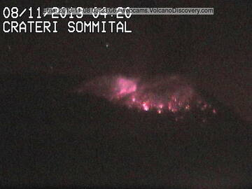 Strombolian eruption from NSEC this night