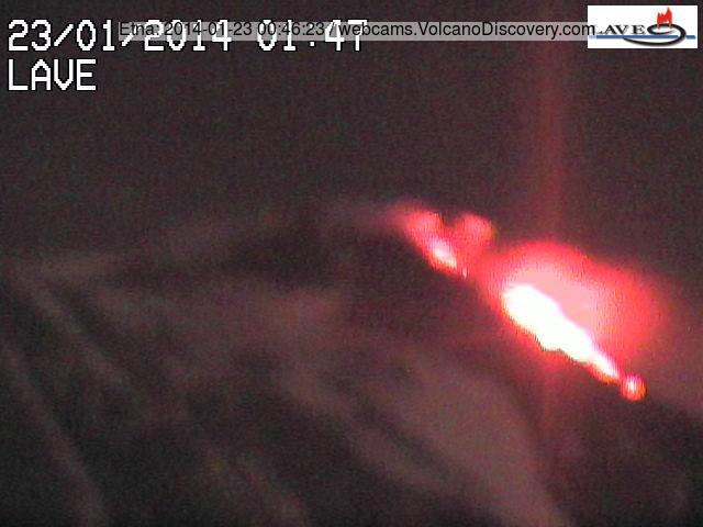 Lava flows from Etna's NSEC during the activity peak this night