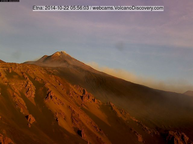 Small ash emission from Etna's New SE crater