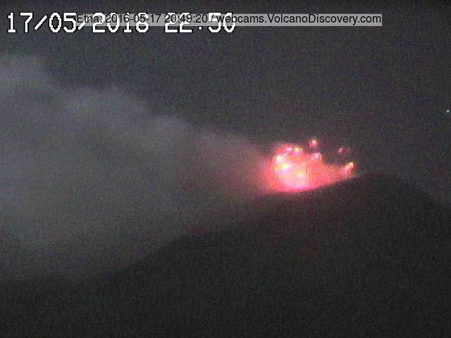 Strombolian activity at NE crater last night