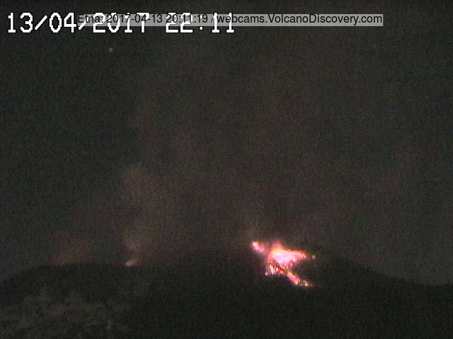 Strombolian activity at the summit vent of the SE cone