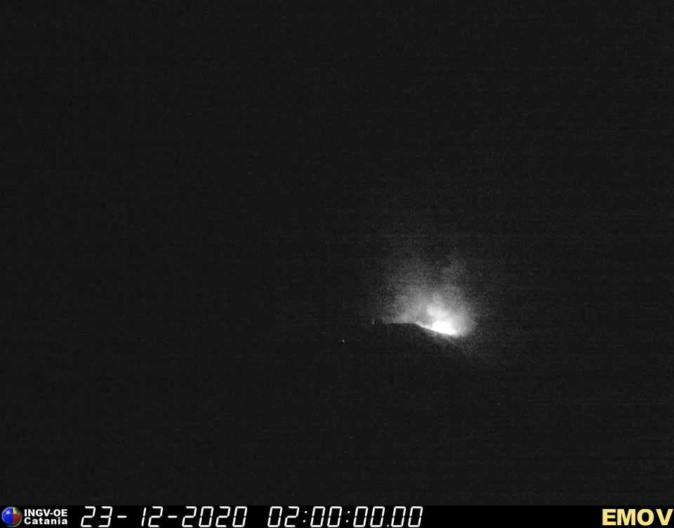 Strombolian eruption at the eastern vent early today