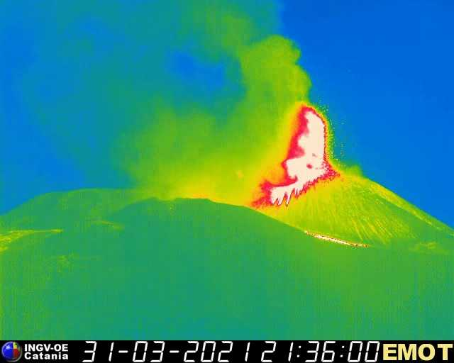 Same view on the thermal webcam (INGV)