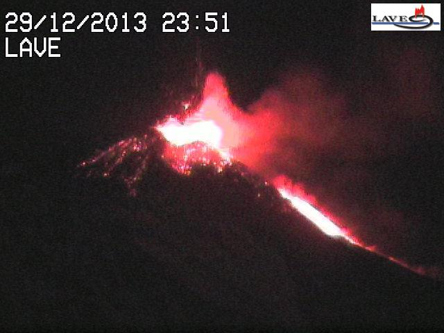 Violent strombolian activity from Etna's NSEC
