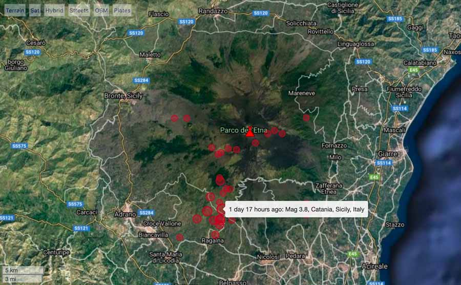 Earthquakes under Etna volcano during 31 Dec 2020-2Jan 2021