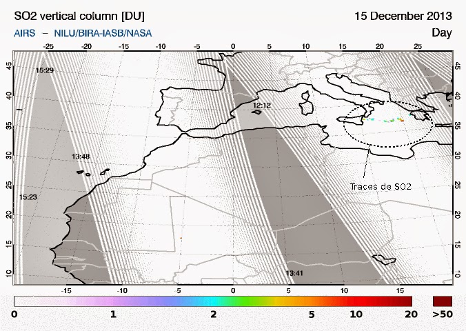 SO2 plume from Etna (Image: SACS, via Blog Culture Volcan)
