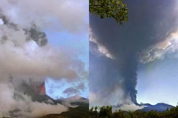 This morning's paroxysm at Etna (image: Franca Fulle)