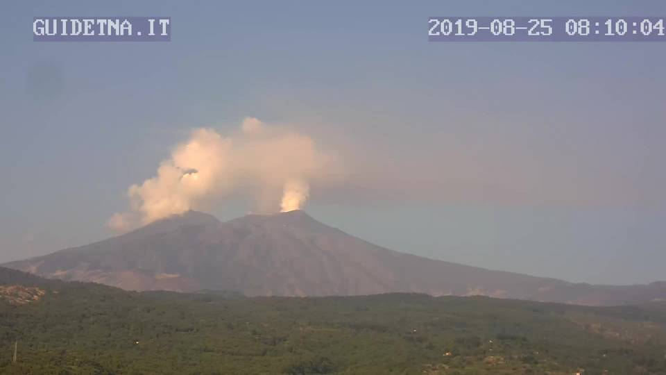 Etna volcano this morning (image: guidetna.it webcam)