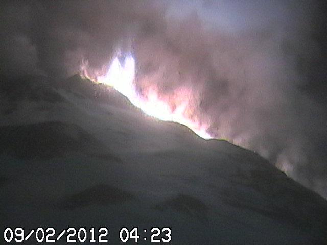 Lava coulent vers la Valle del Bove
