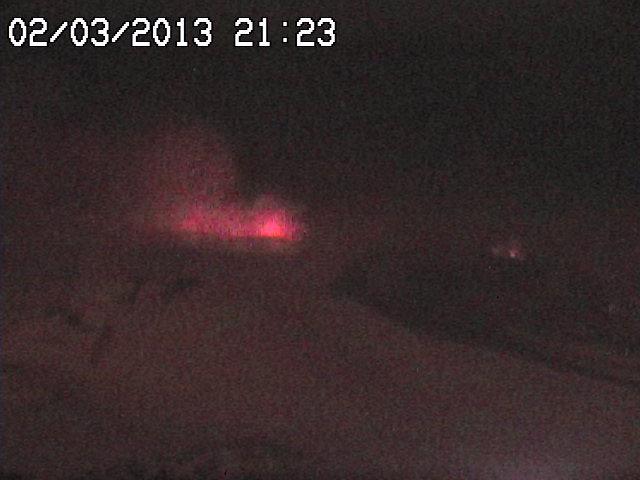 Strombolian activity from Etna's Voragine last night