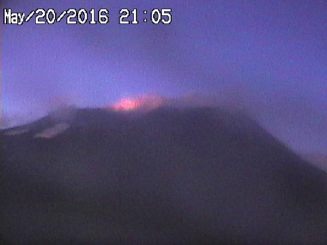 Strombolian activity at Etna's Voragine tonight