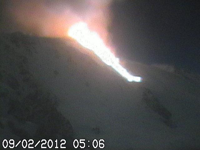 Lava flow descending into Valle del Bove