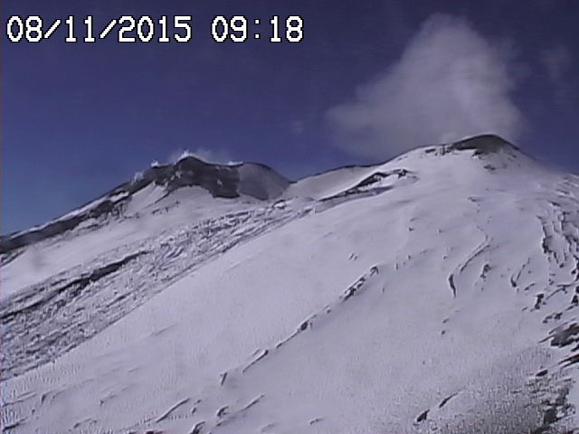 Etna's summit area this morning